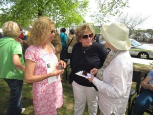 Angela Menino with Alice Hennessey (right) and past Board member Pamela Seigle.